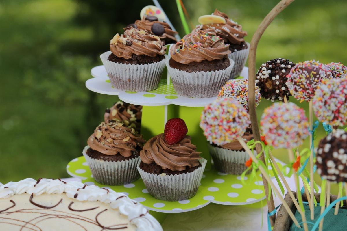 컵 케 익, 크림, loligo, 생일 케이크, 디저트, 음식, 초콜릿, 설탕, 달콤한, 케이크