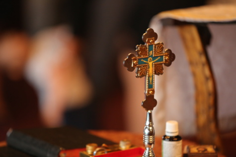 baptism, christianity, religion, cross, spirituality, wood, church, traditional, indoors, blur
