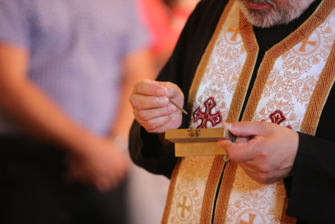 priest, baptism, religion, relict, spirituality, church, hand, people, person, man