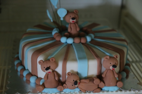 freezer, birthday cake, handmade, cake, teddy bear toy, birthday, baking, cute, celebration, chocolate