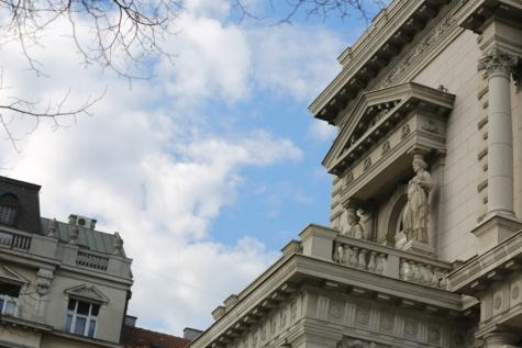 hovedstaden, balkong, bygge, arkitektur, Palace, byen, Universitetet, tårnet, fasade, landemerke