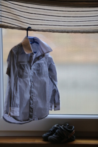 висящи, риза, обувки, миниатюрни, инвентар, малки, мода, елегантност, дрехи, модел
