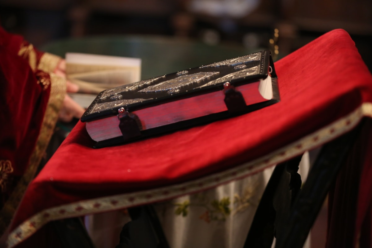 bible, spirituality, book, church, baptism, fashion, indoors, religion, leather, luxury