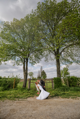 husband, bride, village, romantic, wedding dress, hug, tree, park, wedding, groom