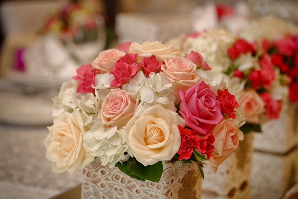 bouquet, reception, mirror, arrangement, rose, decoration, flowers, flower, roses, wedding