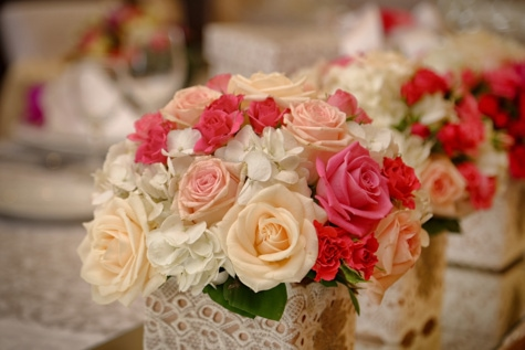 bouquet, reception, mirror, arrangement, rose, decoration, flowers, flower, roses, wedding