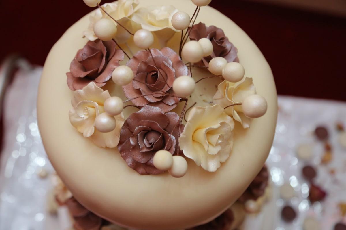 cream, vanilla, wedding cake, food, flower, fresh, craft, decoration, decorative, delicious