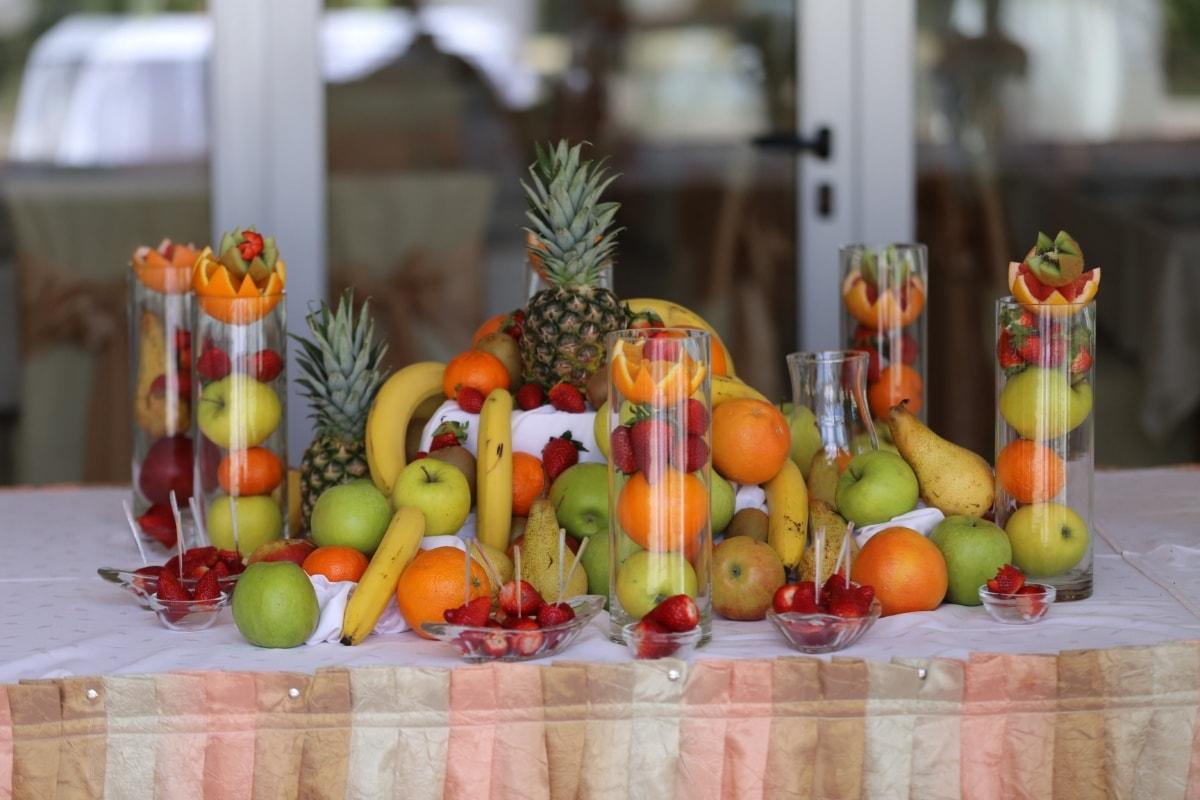 fruit, dessert, buffet, strawberries, pineapple, arrangement, healthy, nutrition, vegetable, apple