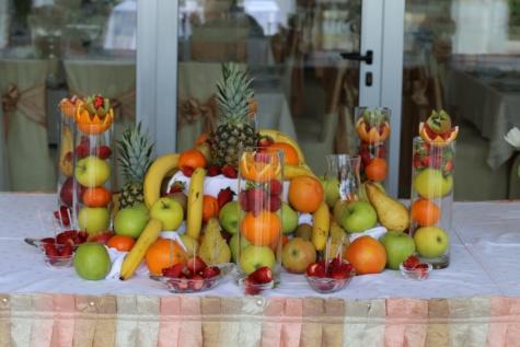 ビュッフェ式, フルーツ, 食品, バンケット, 新鮮です, オレンジ, オレンジの皮, banana, りんご, 梨