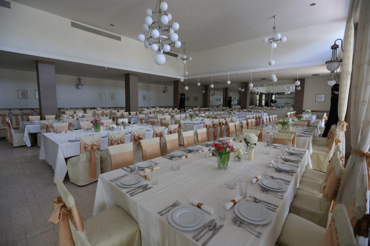 arrangement, restaurant, wedding, chairs, interior decoration, elegant, hotel, furniture, chair, house
