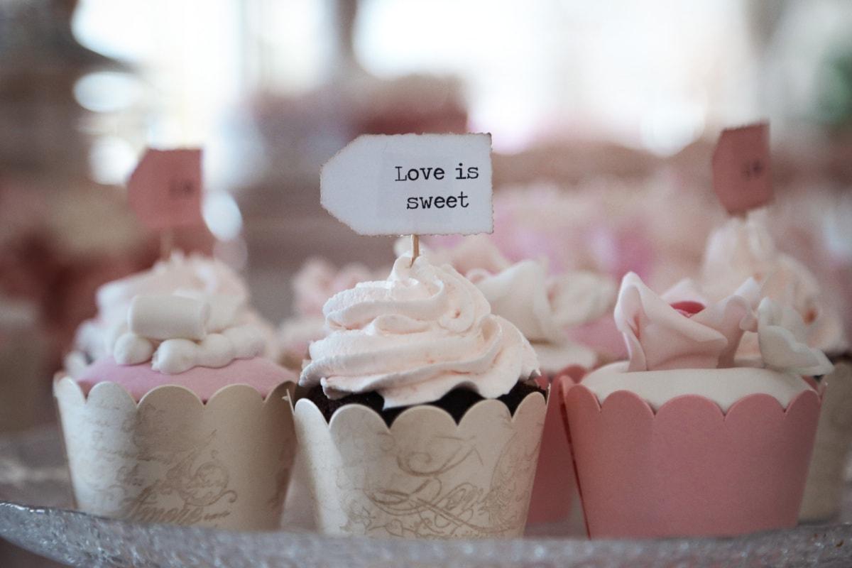 love, cupcake, sweet, handmade, wedding cake, sugar, cake, cream, candy, confectionery