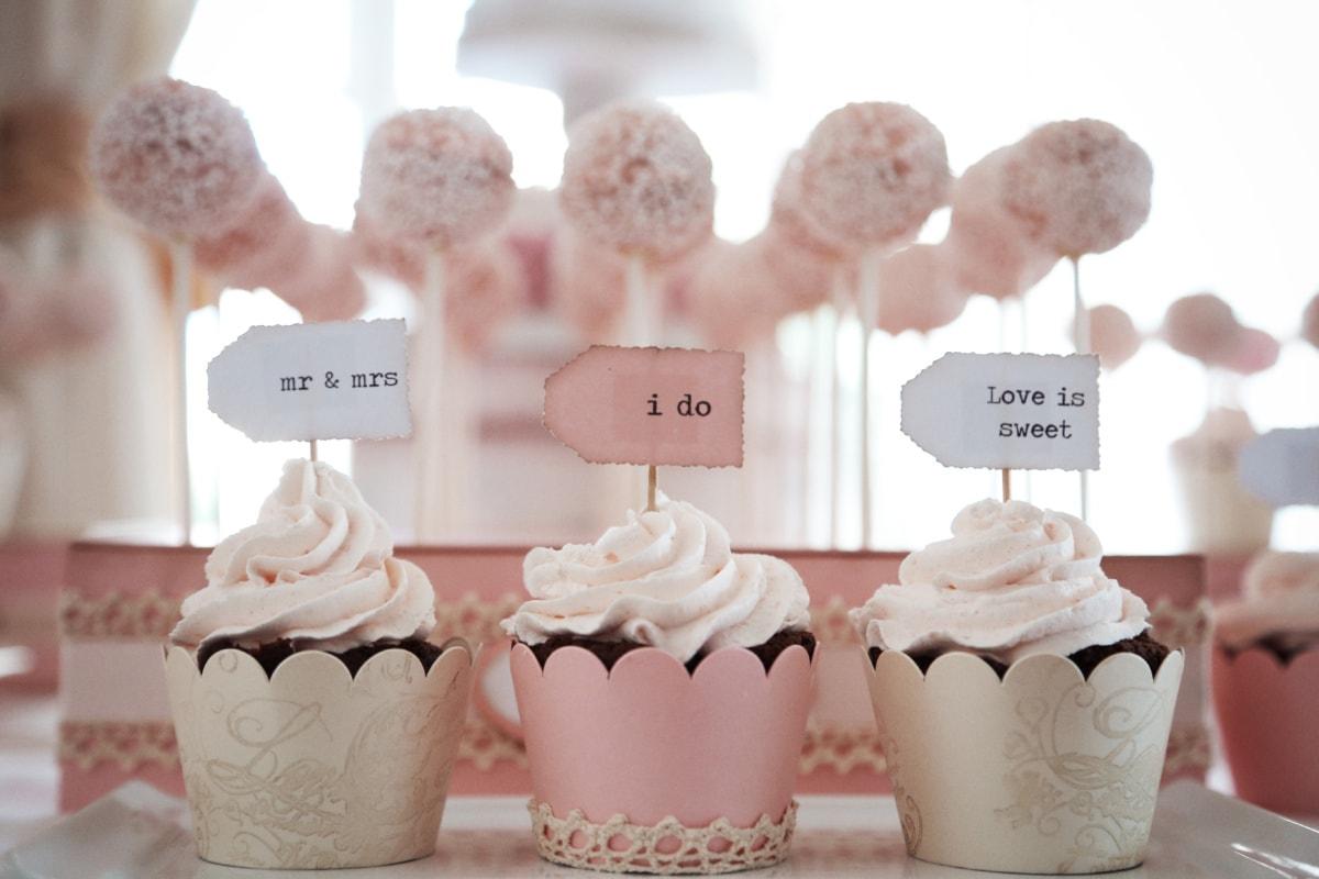 cupcake, sweet, love, romance, wedding, sugar, cup, confectionery, baking, cream