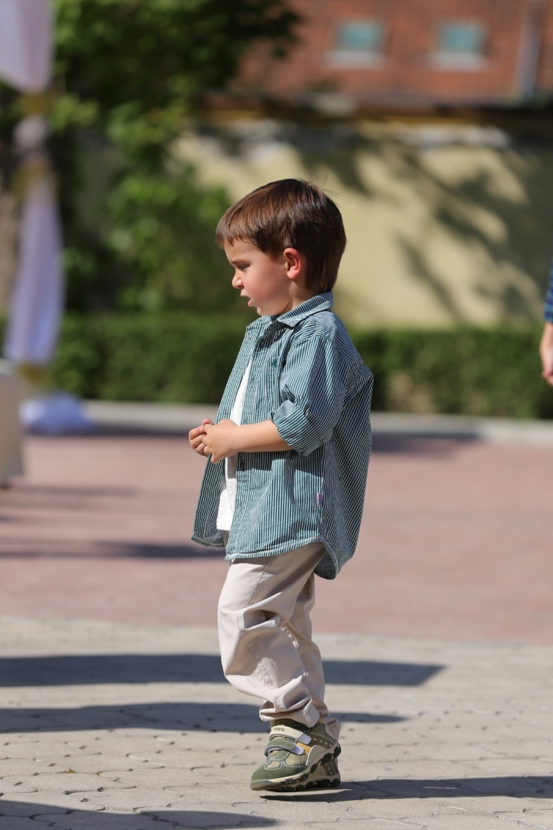 child, boy, outfit, fashion, elegant, pants, shirt, person, cute, fun