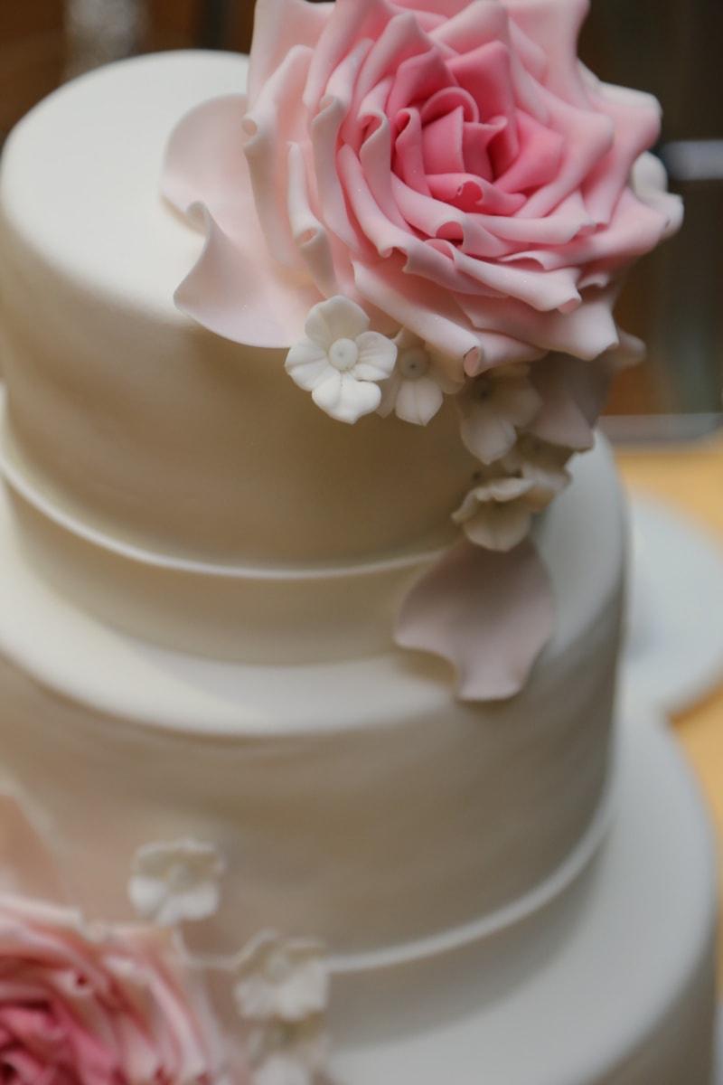 κέικ, γαμήλια τούρτα, Ρομαντικό, κομψό, Ρομαντικές αποδράσεις, Αγάπη, Γάμος, τριαντάφυλλο, λουλούδι, Κύπελλο