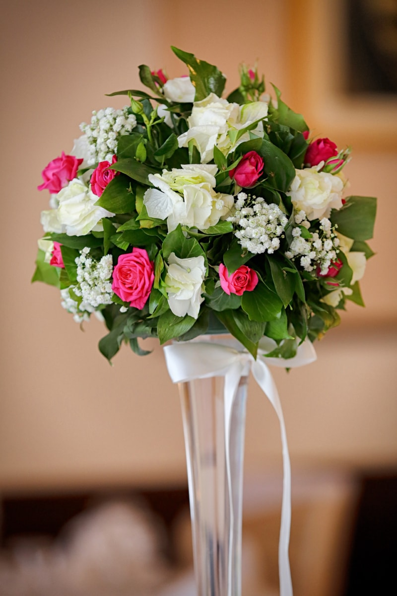 Vase, Blumenstrauß, Hochzeit, Anordnung, Natur, Blume, stieg, Dekoration, Liebe, Romantik