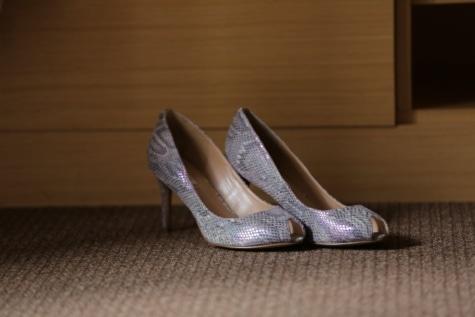 sandale, brillante, lacet, ombre, paire, en cuir, chaussures, chaussure, chaussures, mode
