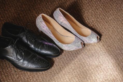 sandale, chaussures, lacet, élégant, mode, paire, en cuir, talons hauts, style, chaussures