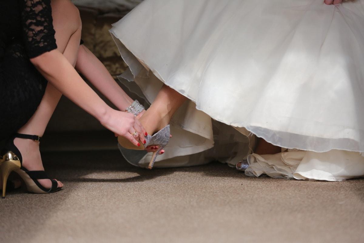 Sandale, Hochzeitskleid, Eleganz, helfen, Beine, Hochzeit, Mädchen, Frau, Braut, Fuß