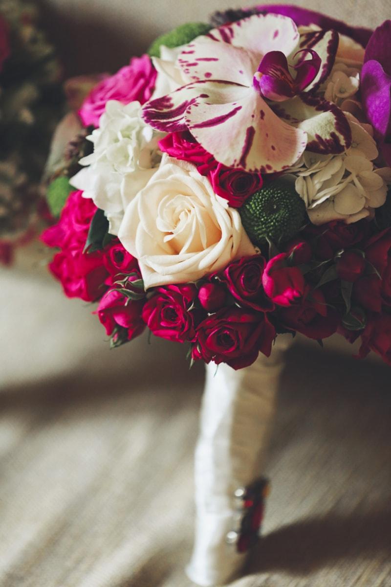 bouquet da sposa, bouquet, Rose, orchidea, decorazione, rosa, disposizione, amore, fiore, matrimonio