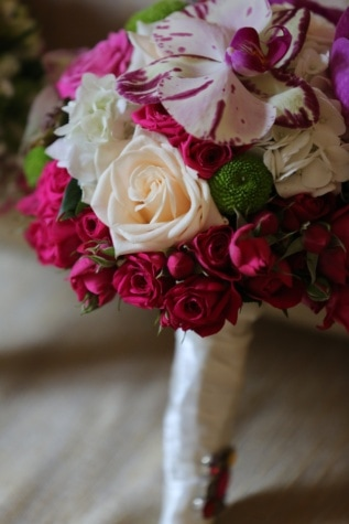 Gül, Orkide, Pembemsi, düğün buketi, beyaz çiçek, romantik, çiçek, aşk, Gelin, romantizm