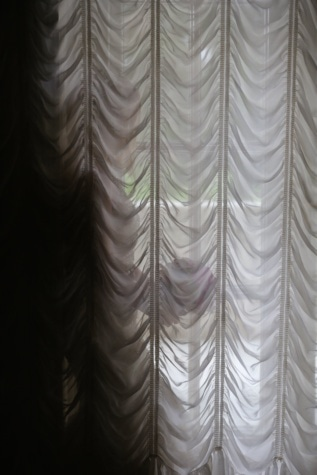 woman, curtain, window, elegance, textil, romantic, texture, art, design, fabric