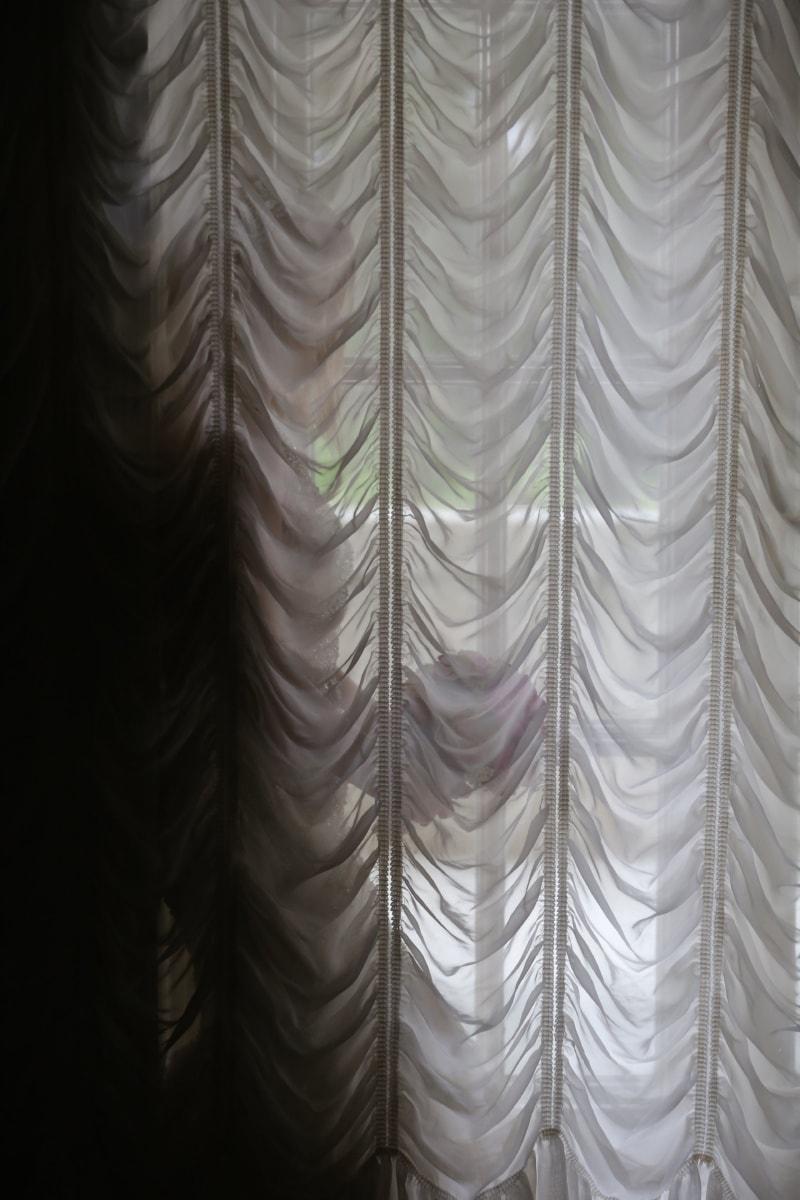 woman, curtain, window, elegance, textil, romantic, texture, art, design, fabric