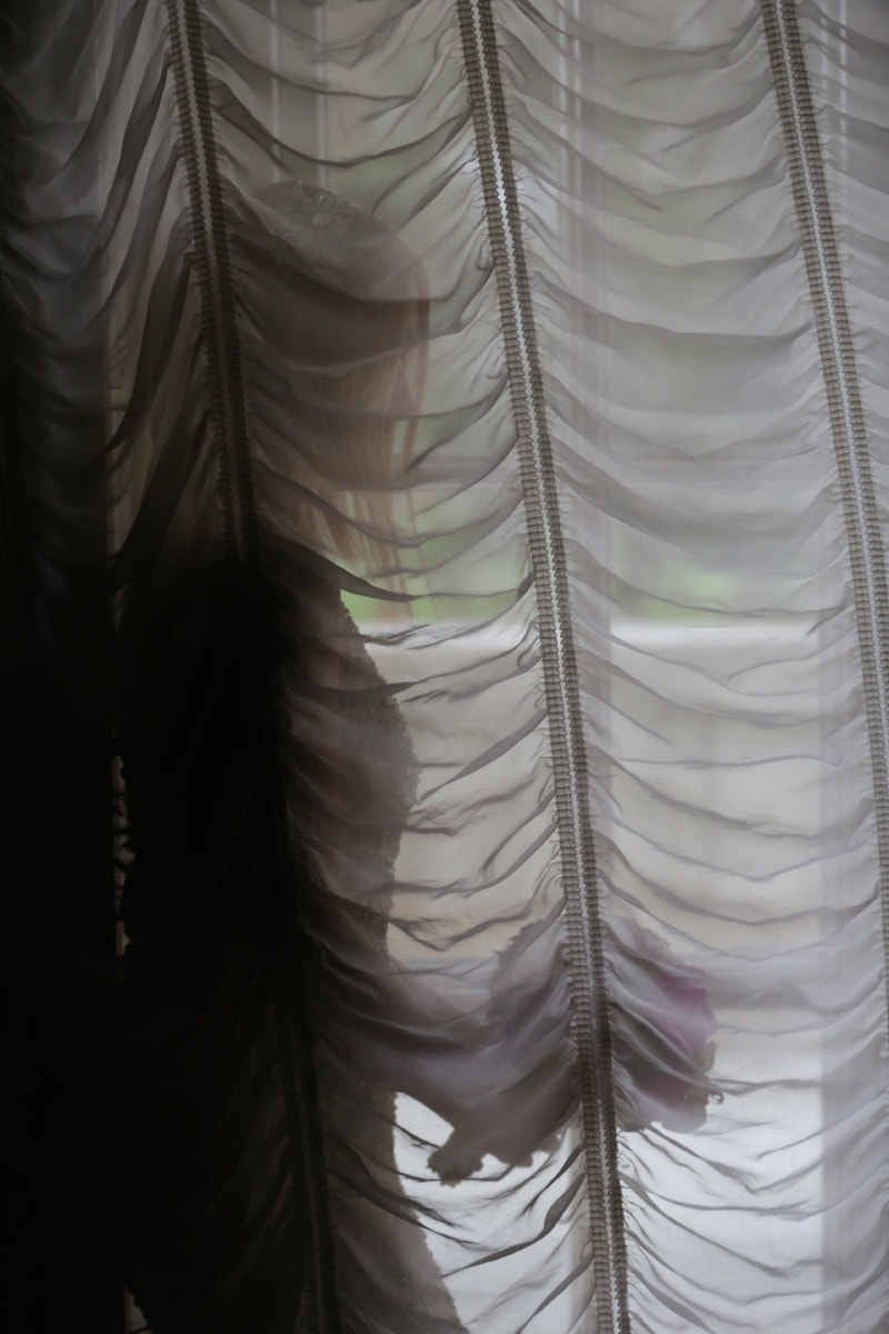 bride, curtain, alone, pretty girl, shadow, romance, marriage, covering, pattern, texture