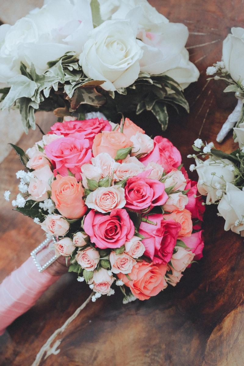 wedding, wedding bouquet, pastel, marriage, bouquet, flower, arrangement, decoration, romance, rose