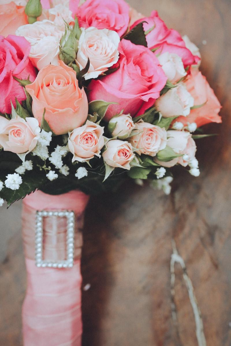 svadobná kytica, svadba, Kytica, pastel, ruže, romantické, kvety, láska, ruže, príroda