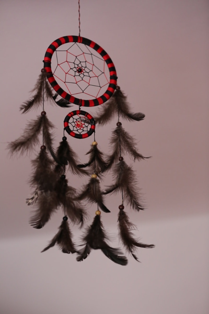 dream catcher, dream, feather, Indian, craft, circle, art, beautiful, color, vintage