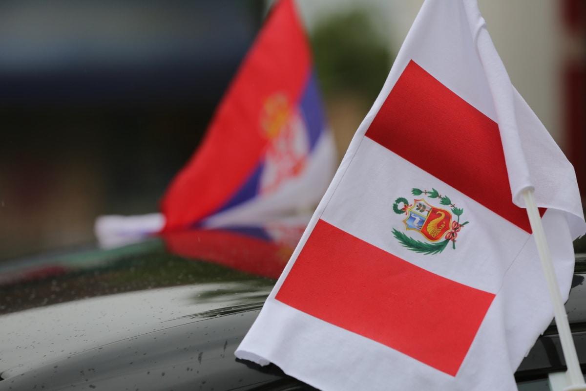 Peru, flag, Serbia, administration, emblem, symbol, national, patriotic, patriotism, nation