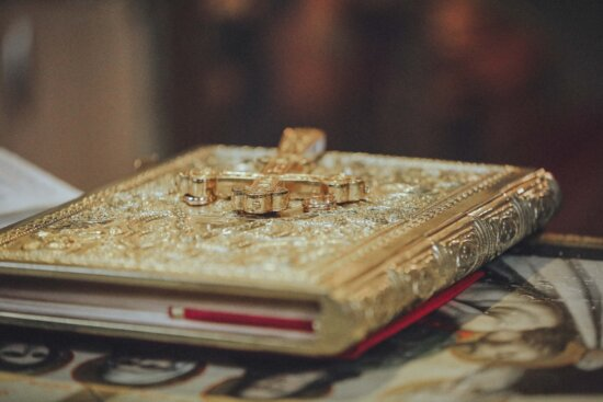 bible, cross, gold, expensive, handmade, religion, jewelry, book, still life, indoors