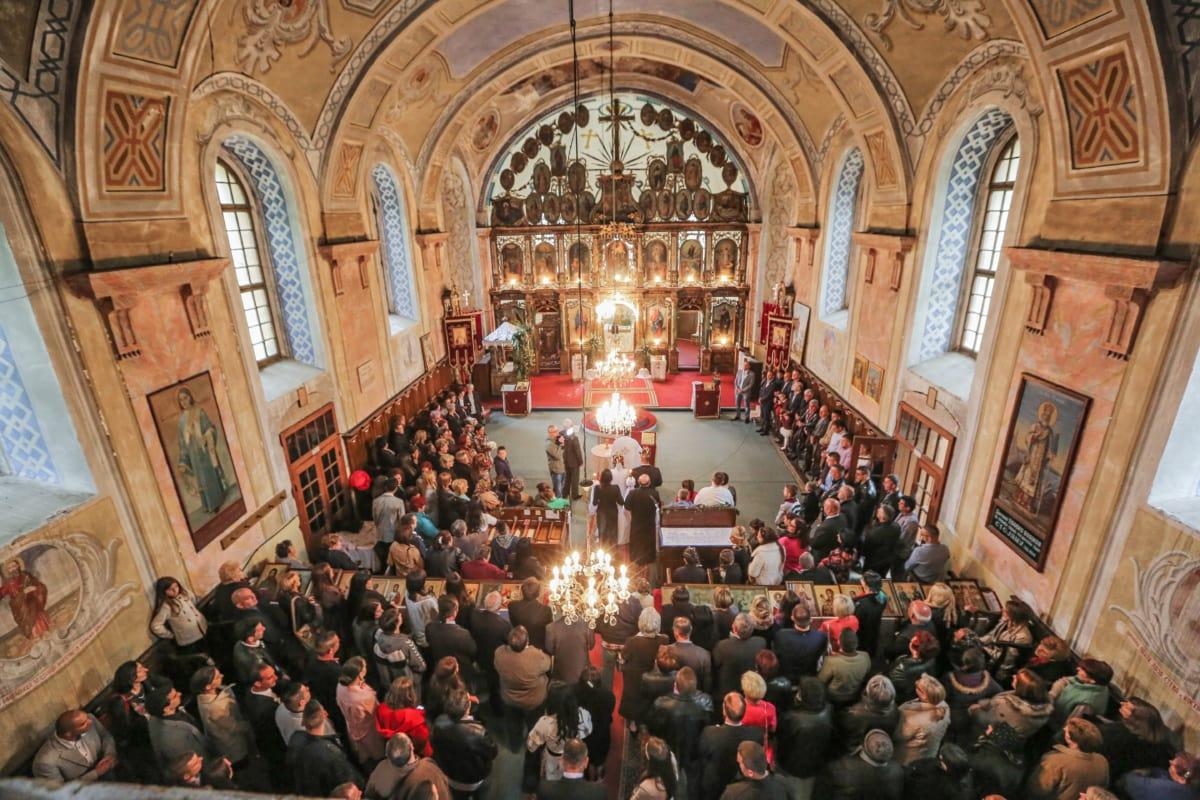 mariage, cérémonie, Église, public, foule, Auditorium de la, religion, Hall, architecture, Cathédrale