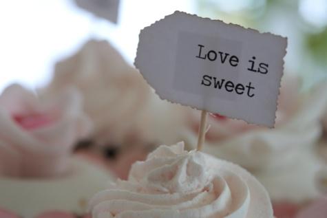 마사지, 달콤한, 사랑, 컵 케 익, 선물, 크림, 디저트, 음식, 실내, 로맨스