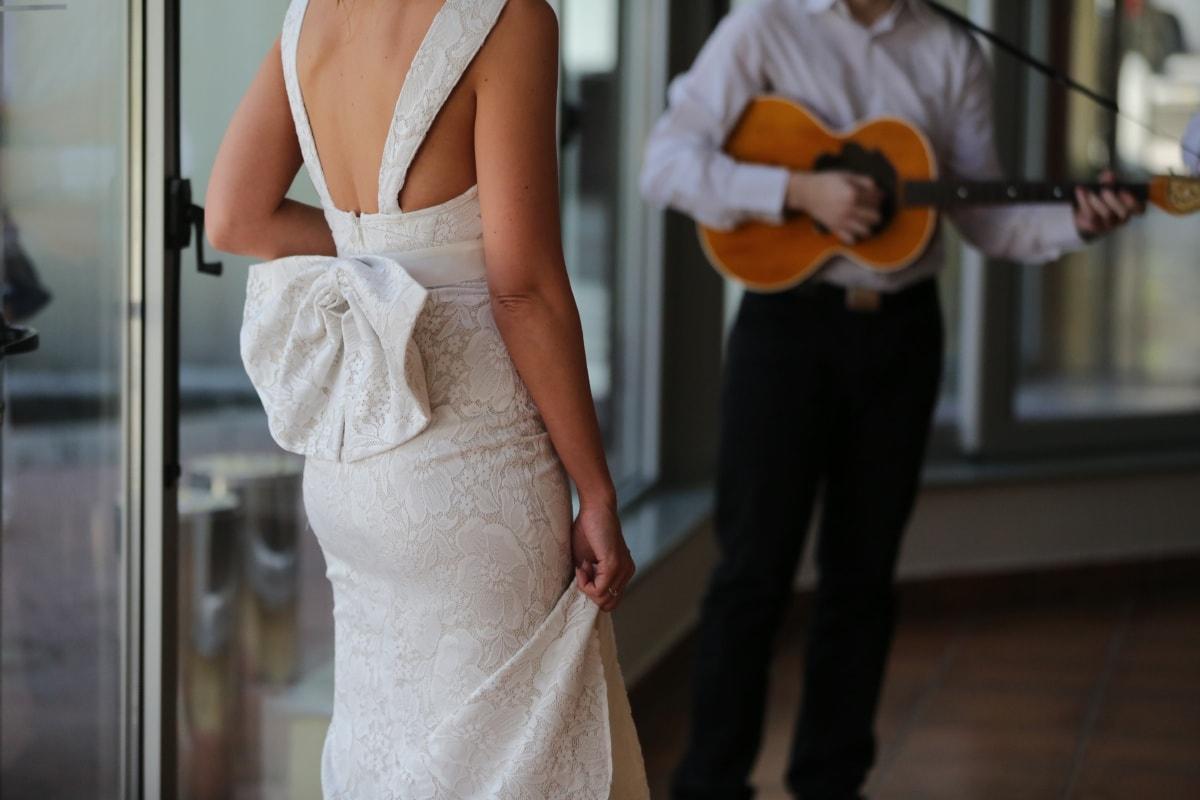 wedding dress, glamour, cotton, silk, bride, dress, model, wedding, fashion, attractive