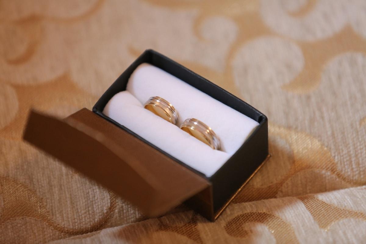 Or, boîte de, lueur dorée, La Saint-Valentin, cadeaux, surprise, Détails, bijoux, Metal, cadeau