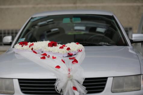 blommor, bröllop, slöja, bil, sedan, vindrutan, lyx, Automobile, ceremoni, detalj