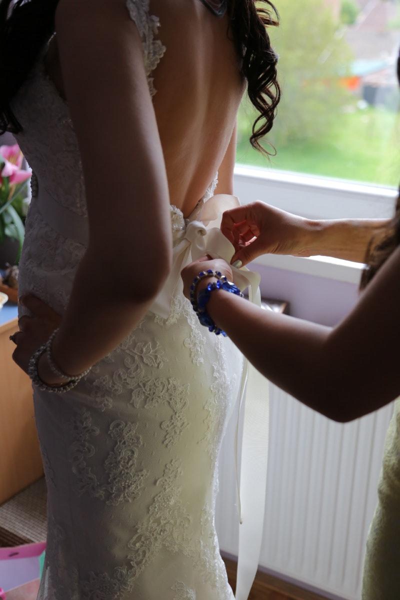 wedding dress, women, bride, wedding, dress, necklace, jewelry, hands, woman, girl