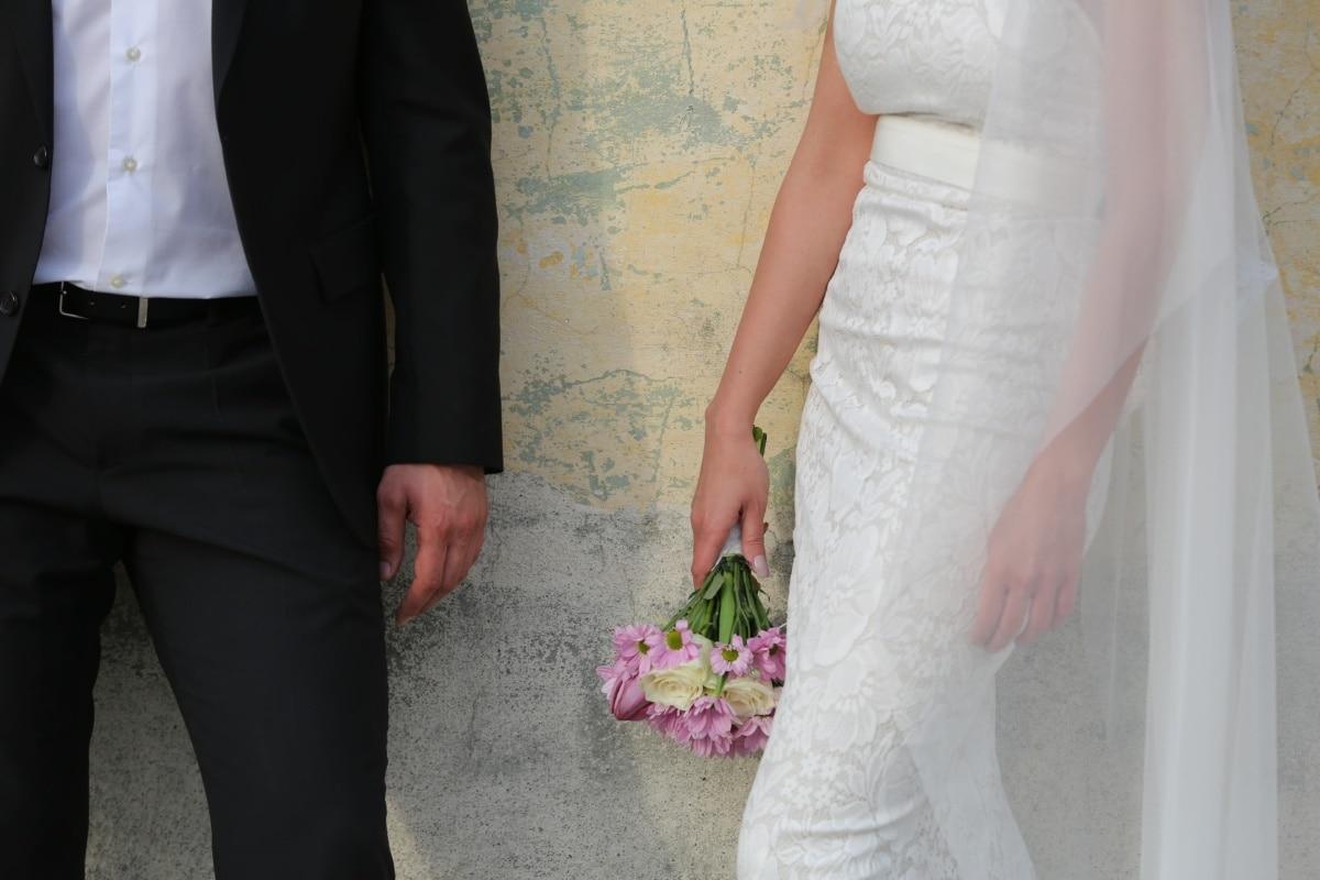 veil, outfit, wedding dress, belt, elegance, pants, shirt, jacket, suit, groom