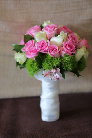 wedding bouquet, white flower, pinkish, silk, bouquet, roses, decoration, love, flower, arrangement