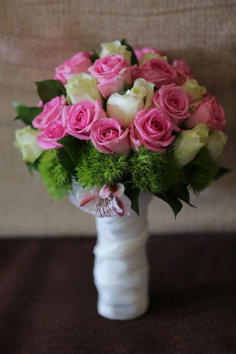 rosor, bröllop bukett, bukett, romantik, gåva, arrangemang, blomma, Kärlek, ökade, blommor