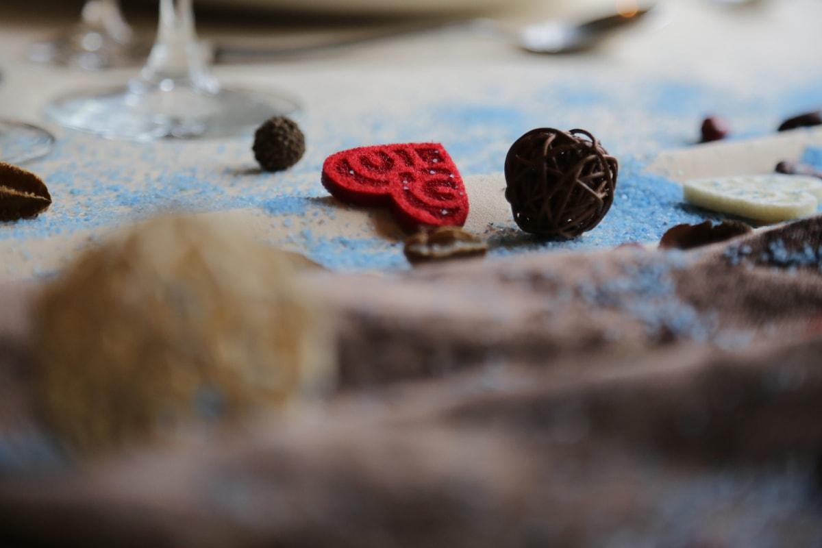 handmade, hearts, decorative, miniature, still life, homemade, traditional, blur, meal, blurry