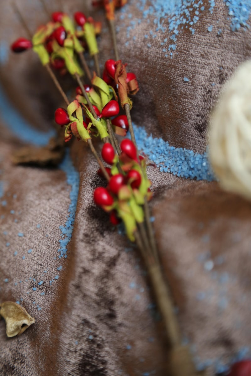 decoration, textile, berries, branches, shrub, fruit, wood, berry, nature, traditional