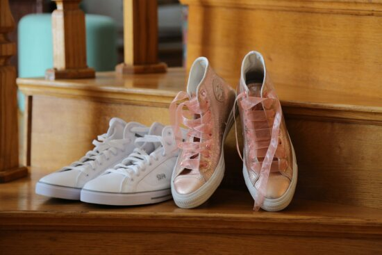 staircase, footwear, sneakers, comfortable, casual, leather, covering, boot, pair, foot