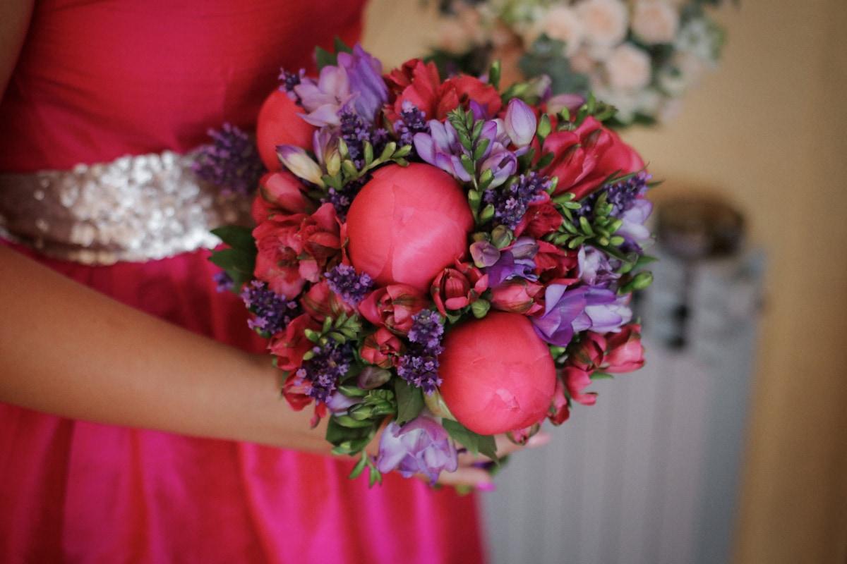 wedding bouquet, dress, pastel, pink, bouquet, flower, bride, flowers, wedding, arrangement