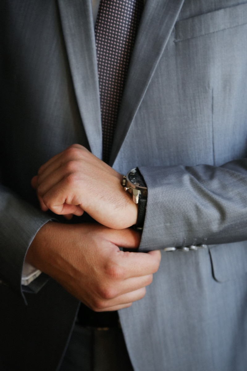suit, tie, wristwatch, manager, handsome, businessman, man, fashion, people, business