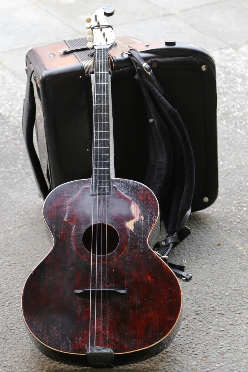 populaire, acoustique, guitare, musique, instrument, son, musical, Roche, chaîne, musicien
