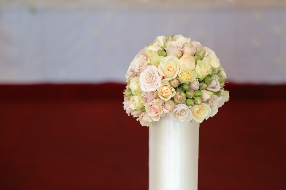 wedding bouquet, vase, porcelain, wedding, ceramic, roses, elegance, arrangement, decoration, flowers