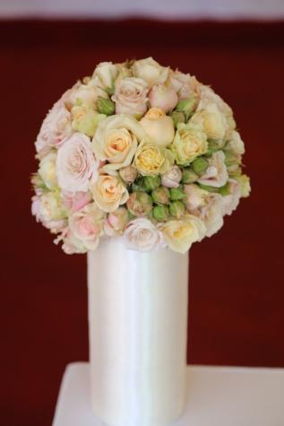 สีขาว, เซรามิกส์, แจกัน, จัดเรียง, ช่อดอกไม้, ดอกไม้, ตกแต่ง, ดอกไม้, ดอกกุหลาบ, ความรัก