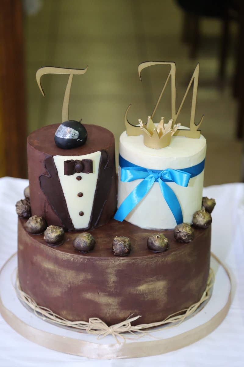chocolate, cake, chocolate cake, cup, wedding, food, birthday, sweet, candle, sugar
